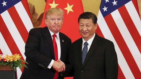 El presidente Donald Trump y su homólogo chino Xi Jinping en Pekín, el 9 de noviembre de 2017.