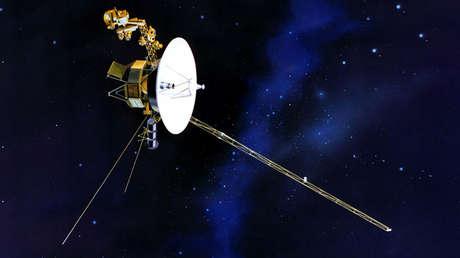 Representación artística de uno de las sondas Voyager.