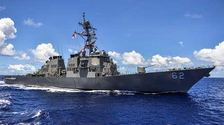 Destructor de misiles guiados USS Fitzgerald patrulla en la región asiática del Océano Pacífico, 8 de septiembre de 2014.