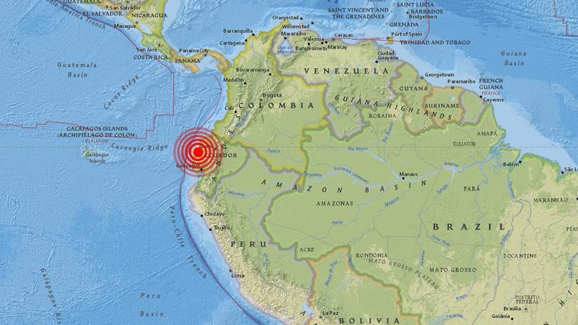 Há um terremoto de magnitude 6,0 no Equador