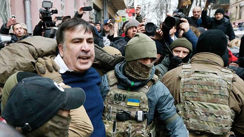 ¿Por qué el expresidente de Georgia amenazó con saltar desde el techo en Kiev?