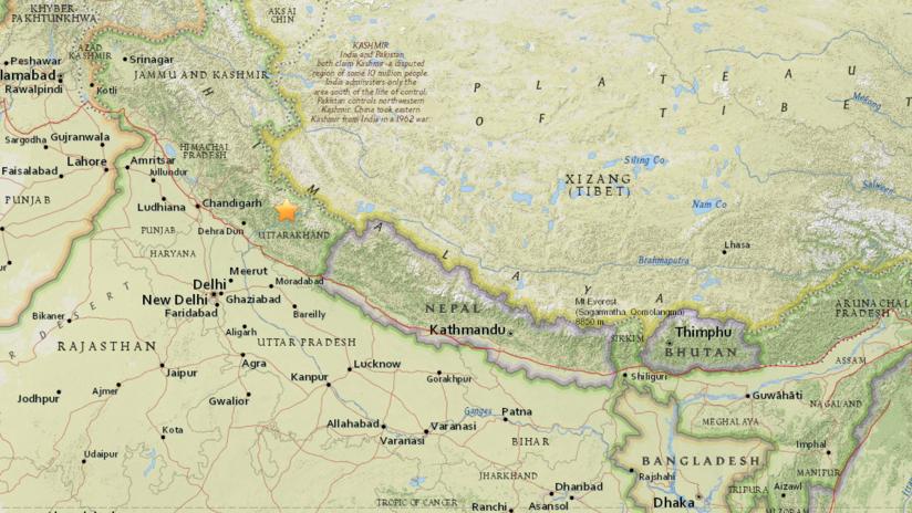 Un sismo de magnitud 5,1 sacude la India