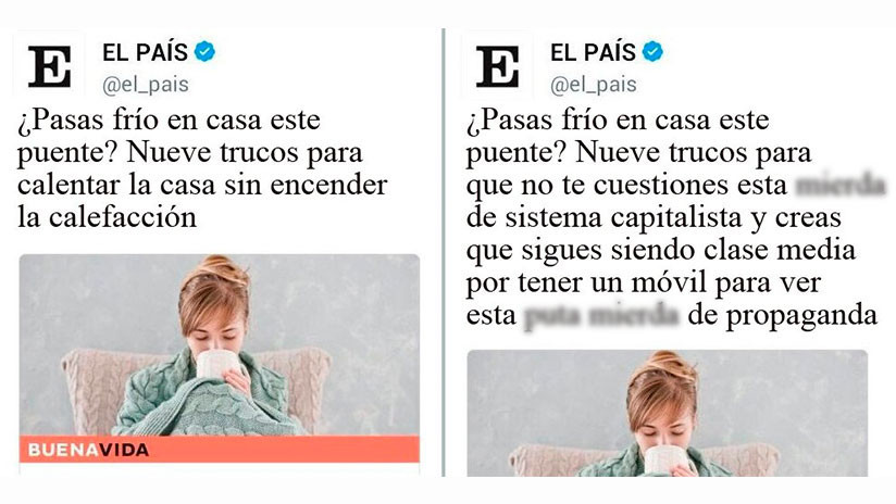 """Recomiendan mantas y cinta aislante para combatir el frío en España y en Twitter """"se calientan"""""""