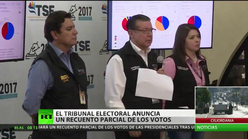 Honduras: El Tribunal Electoral anuncia un recuento parcial de votos de las elecciones