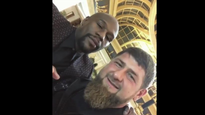"""""""¡Este es mi amigo!"""": Mayweather se reúne con Kadýrov y revela su deseo de obtener el pasaporte ruso"""