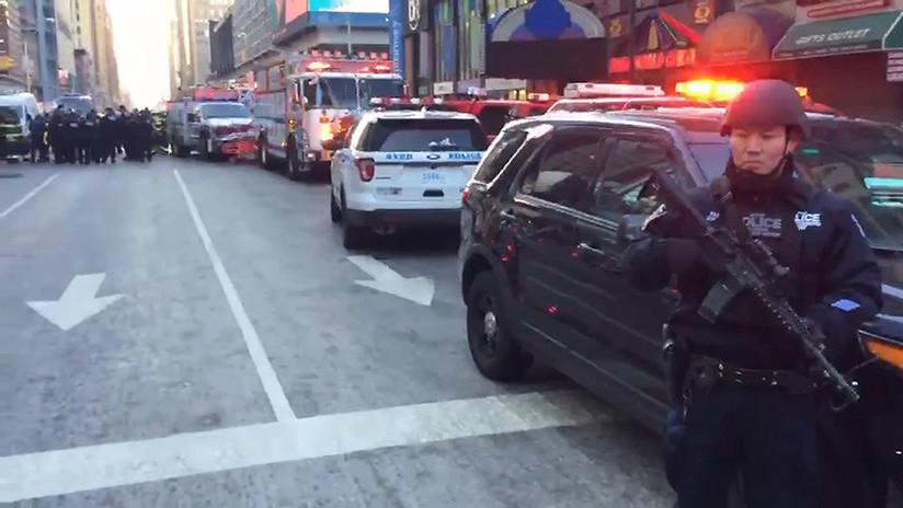 Se registra una explosión en una terminal de autobuses de Nueva York