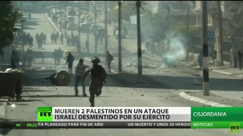 Ataque aéreo fatal: Mueren dos palestinos a causa de un bombardeo que Israel niega