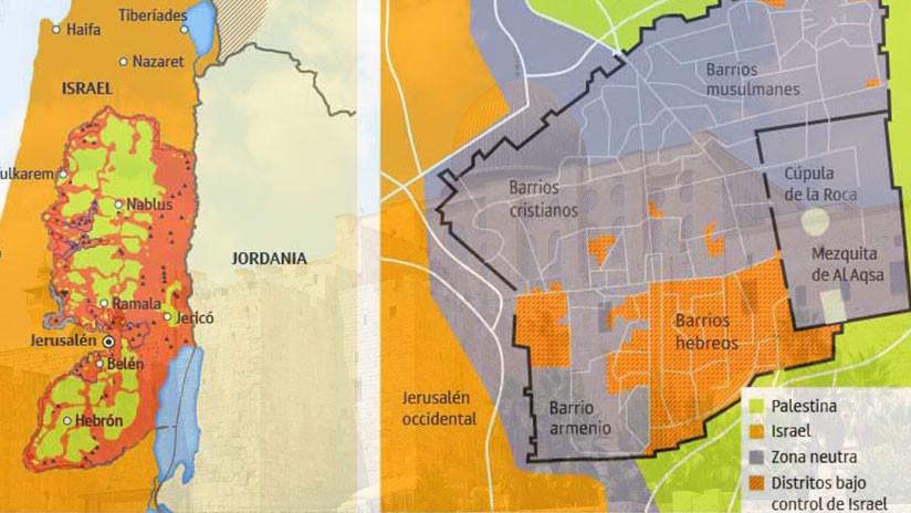 El problema 'Jerusalén': Cómo ha cambiado el mapa del Oriente Medio (infografía)
