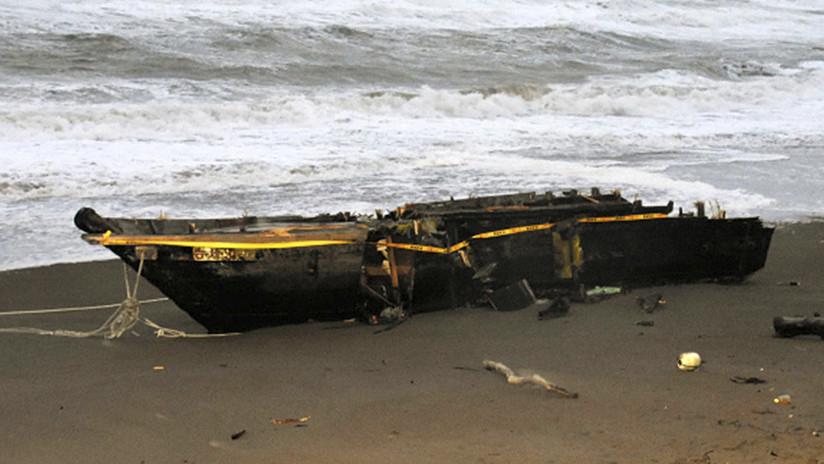 FOTOS: Otro 'barco fantasma' norcoreano llega a las costas de Japón con un cadáver a bordo