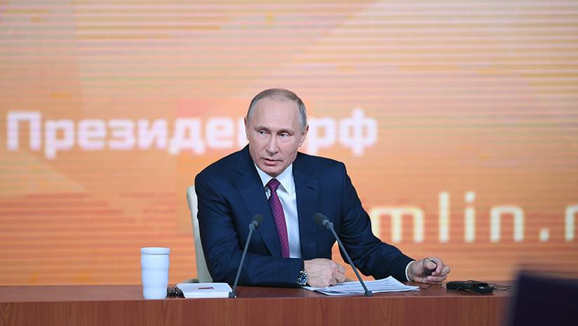 Putin explica sus razones para presentarse a las elecciones presidenciales rusas de 2018