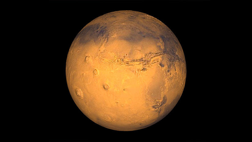 Esta llamativa imagen de Marte pone de cabeza al planeta rojo