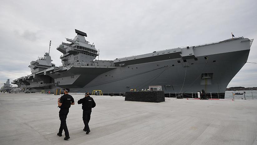Encuentran una fuga en el nuevo portaviones británico de 4.000 millones de dólares