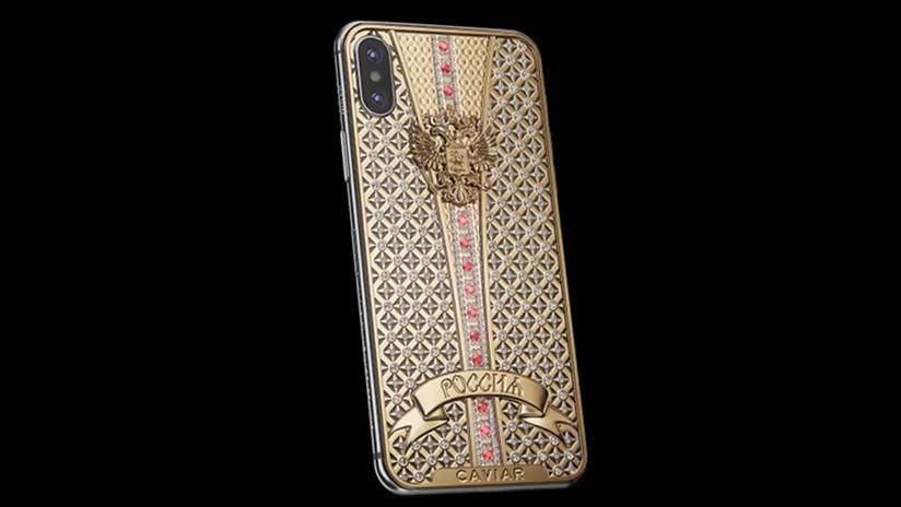 FOTO: Sale a la venta una versión de lujo del iPhone X para homenajear al FSB ruso
