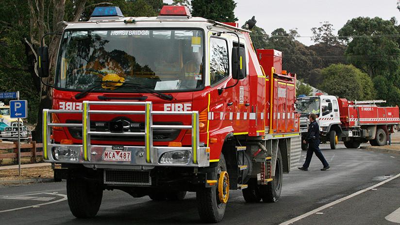 FOTOS: Una explosión de bombonas de gas tras el atropello en Melbourne causa el pánico en Australia