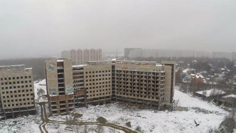 Un dron graba el 'hospital fantasma' de la KGB (VIDEO)