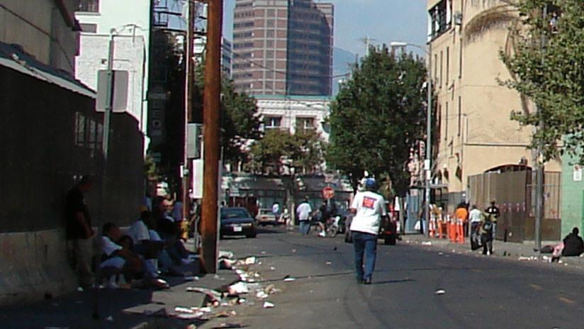 VIDEO: Desgarradora pobreza y miles de vagabundos en el corazón de Los Ángeles