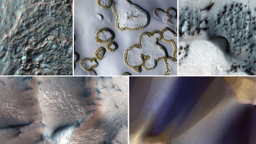 FOTOS: La nieve 'navideña' de Marte, en espléndidas imágenes de la NASA