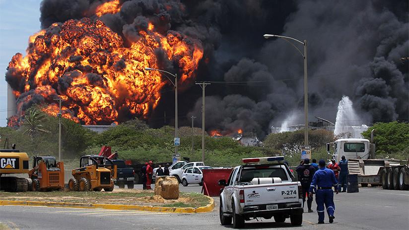 FOTOS, VIDEO: Se incendia en Venezuela una de las mayores refinerías petroleras del mundo