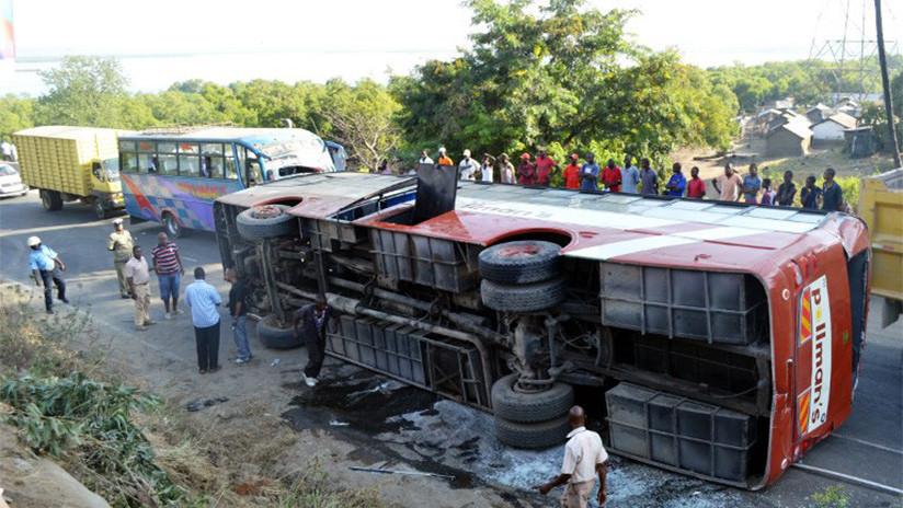 Accidente de autobús en Kenia deja al menos 36 muertos