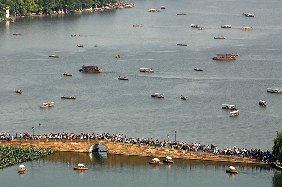 El Puente Roto en Hangzhou