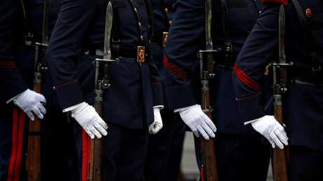 Fuerzas armadas españolas durante el desfile militar del Día Nacional de España, en Madrid.