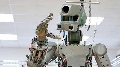 Pruebas de laboratorio del robot FEDOR en Magnitogorsk, Rusia, el 8 de diciembre de 2012.