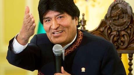 Evo Morales en el Palacio de Gobierno en La Paz (Bolivia), el 17 de abril de 2017.