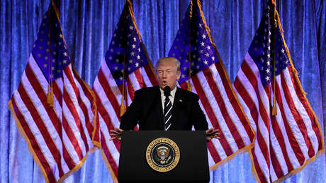 Donald Trump en Nueva York, EE.UU., el 2 de diciembre de 2017.