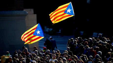 Banderas independentistas en un concierto organizado por la Asamblea Nacional Catalana (ANC).