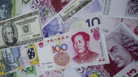 El yuan chino y otras monedas del mundo.