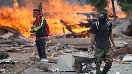 Simpatizantes del opositor Salvador Nasralla en Tegucigalpa, Honduras. 30 de noviembre de 2017.