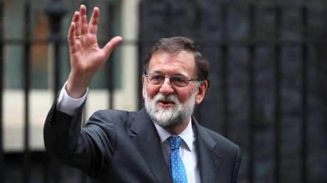 El presidente español Mariano Rajoy tras su encuentro con Theresa May en Londres. 5 de diciembre, 2017