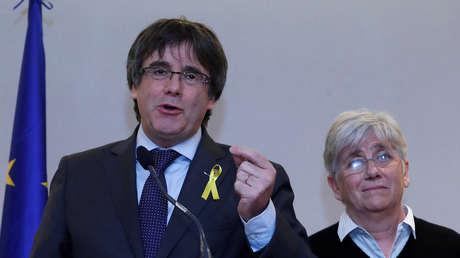 Carles Puigdemont durante la rueda de medios en Bruselas. 6 de Diciembre, 2017.