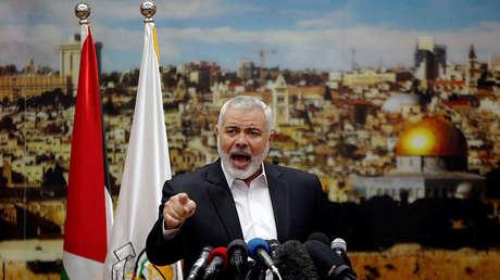 Líder del movimiento Hamás, Ismaíl Haniyé.