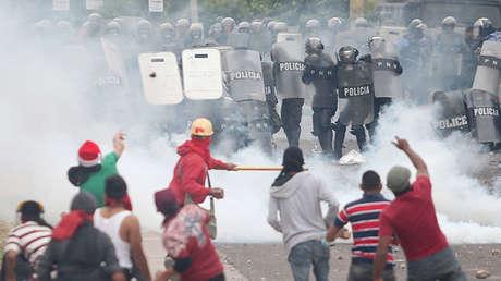Protestas por los resultados de las elecciones presidenciales, Tegucigalpa, Honduras