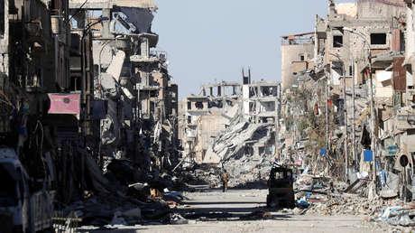 La ciudad de Raqa, Siria. 18 de octubre del 2017.
