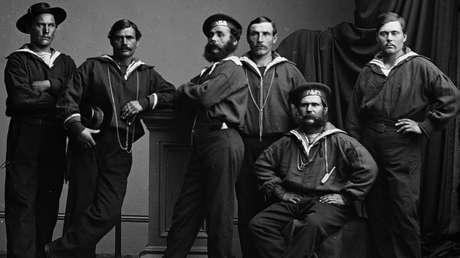 Marineros rusos de la corbeta Variag, Nueva York, 1863