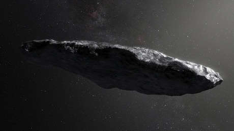 El primer asteroide interestelar Oumuamua.