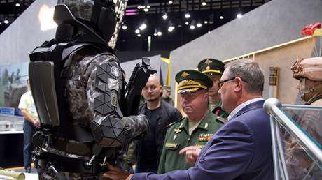 El equipamiento Rátnik exhibido en el foro técnico militar Armia-2017, en Kúbinka (región de Moscú), el 28 de agosto de 2017.