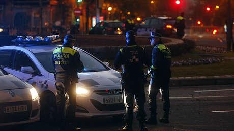 Agentes de la Policía Municipal de Madrid, España, 19 de diciembre de 2014.