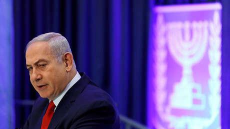 El primer ministro de Israel, Benjamín Netanyahu, durante la Segunda Conferencia Internacional de Diplomacia Digital, en Jerusalén el 7 de diciembre de 2017.