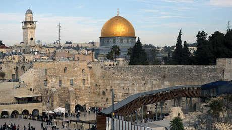 Una vista general de la ciudad vieja de Jerusalén.