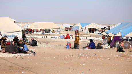 Refugiados en el campamento de Qana en Hasaka, Siria, el 26 de noviembre de 2017.