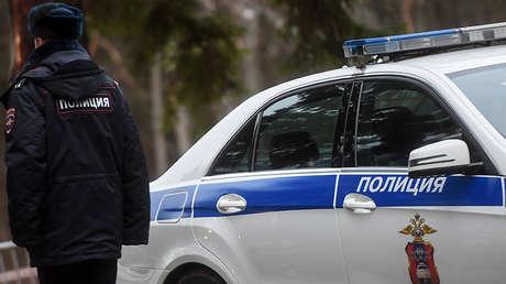 Un vehículo policial ruso