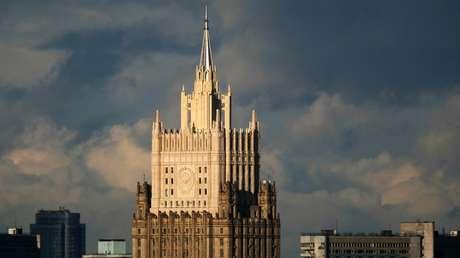Vista del Ministerio de Exteriores de Rusia en Moscú.