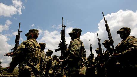 Soldados colombianos desplegados en zonas previamente controladas por las FARC. Febrero de 2017.