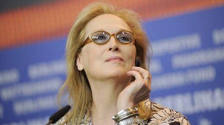 La actriz Meryl Streep asiste a una conferencia de prensa en Berlín, Alemania, el 11 de febrero de 2016.