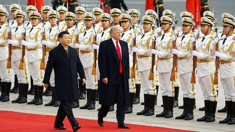 El presidente de EE.UU., Donald Trump, y su homólogo chino, Xi Jinping, en Pekín (China), el 9 de noviembre de 2017.