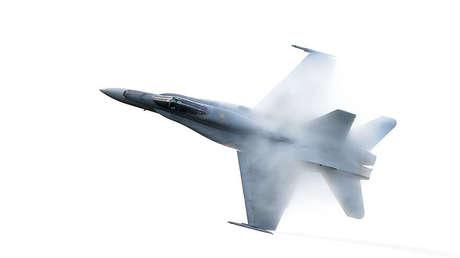 Un caza F/A-18 Super Hornet