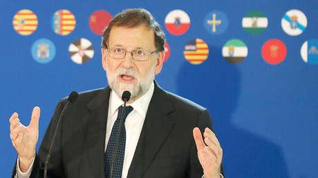 Mariano Rajoy en un acto de campaña para las elecciones catalanas en Barcelona, 18 de diciembre de 2017.